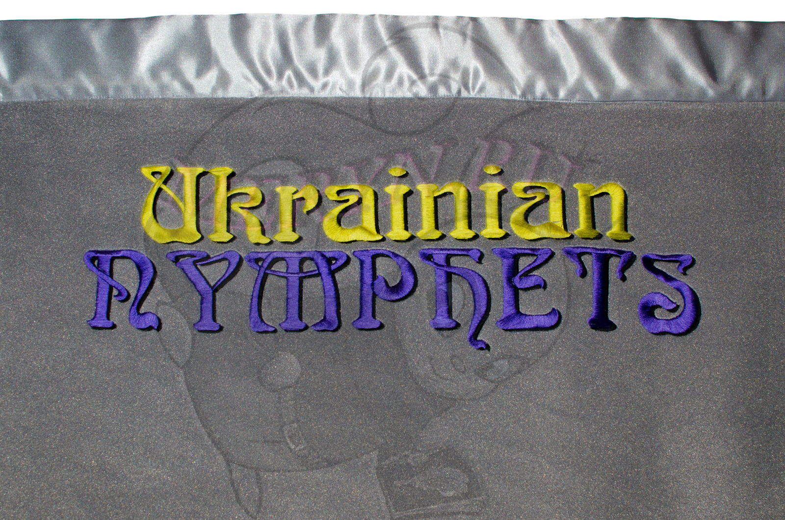 Ukranian Nymphets , polyester fleece and poly-satin, 2013